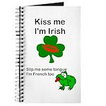 KISS ME IM IRISH, FROG WITH TONGUE Journal