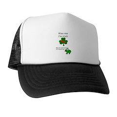 KISS ME IM IRISH, FROG WITH TONGUE Trucker Hat