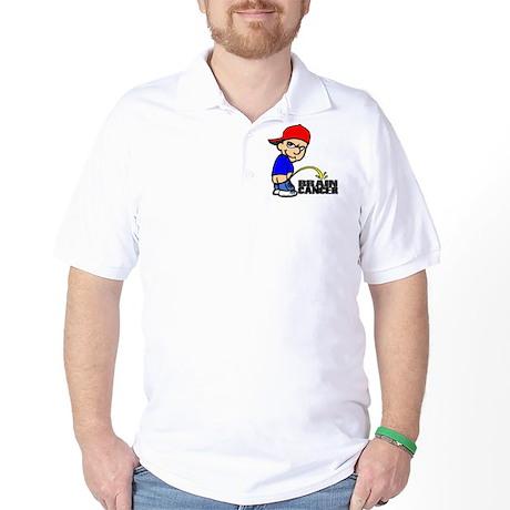 Piss On Brain Cancer Golf Shirt