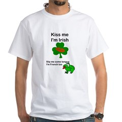 KISS ME IM IRISH, FROG WITH TONGUE Shirt