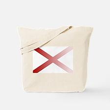 Alabama State Flag Fade Background Tote Bag
