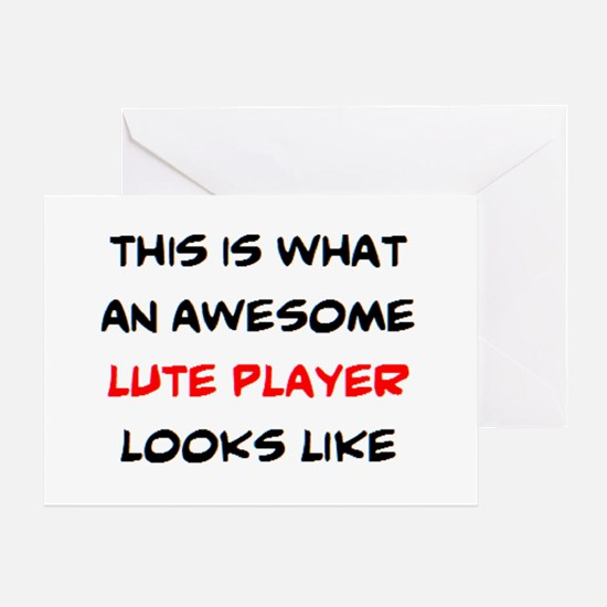 awesome lute player Greeting Card