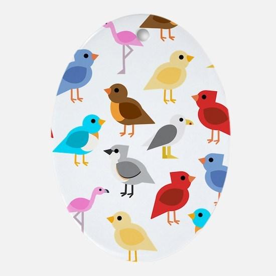 Wild Birds Oval Ornament