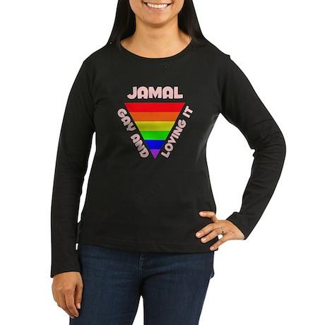 Jamal Gay Pride (#007) Women's Long Sleeve Dark T-