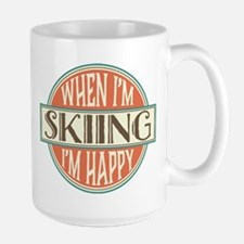 happy skier Mugs