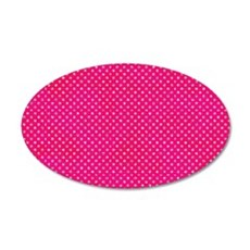 Hot Pink Glitter Dots Wall Decal