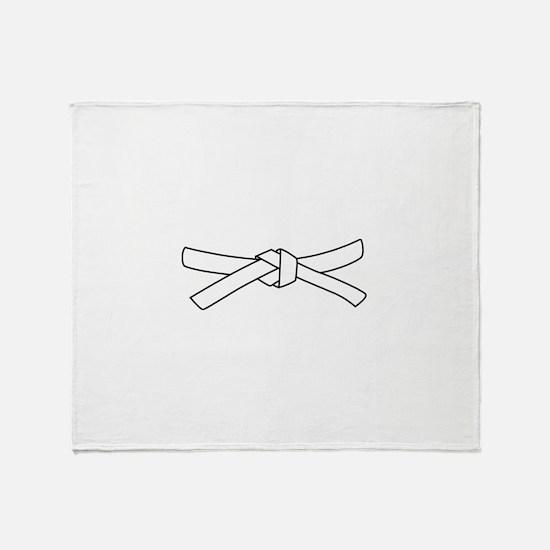 White Belt Throw Blanket