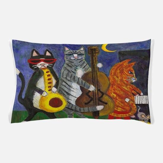Cat saxophone Pillow Case