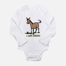 I love horses cute Body Suit