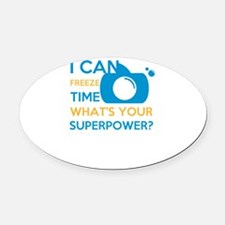 i can free time, what's your s Oval Car Magnet