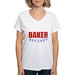Retired Baker Women's V-Neck T-Shirt