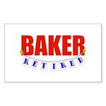 Retired Baker Rectangle Sticker