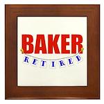 Retired Baker Framed Tile