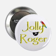 """Talk Like A Pirate - Jolly Roger 2.25"""" Button"""