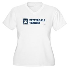 PATTERDALE TERRIER Womes Plus-Size V-Neck T-Shirt
