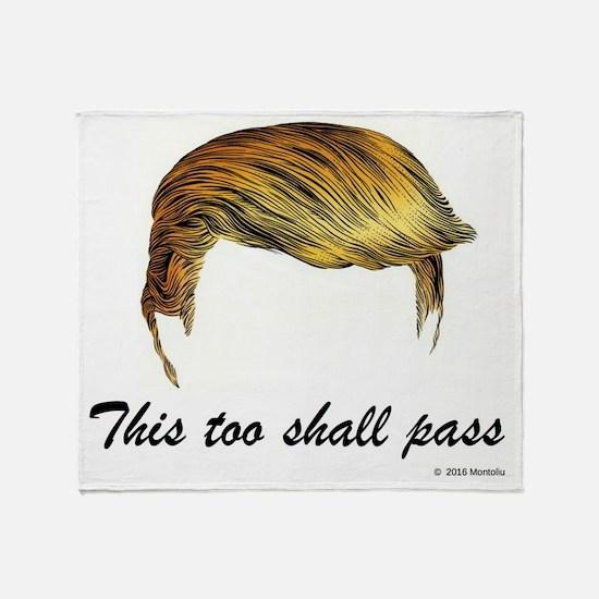 Trump Hair Throw Blanket