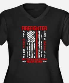 Proud American Firefighter T Shi Plus Size T-Shirt