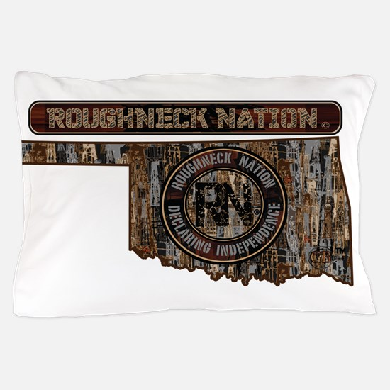 OKLAHOMA RIG UP CAMO Pillow Case