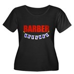 Retired Barber Women's Plus Size Scoop Neck Dark T