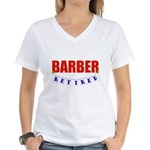 Retired Barber Women's V-Neck T-Shirt