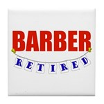 Retired Barber Tile Coaster