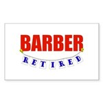 Retired Barber Rectangle Sticker