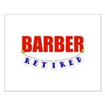 Retired Barber Small Poster