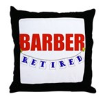 Retired Barber Throw Pillow