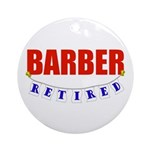 Retired Barber Ornament (Round)