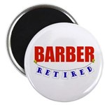 Retired Barber Magnet