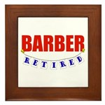 Retired Barber Framed Tile