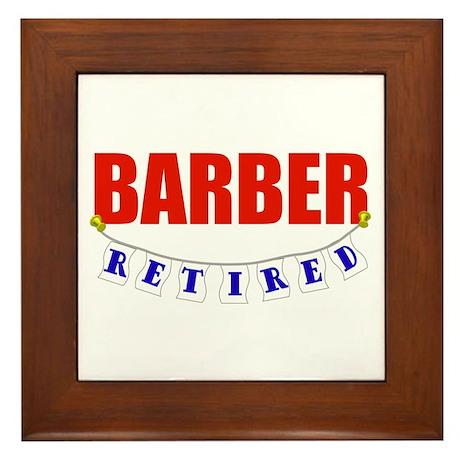 Retired Barber Framed Tile