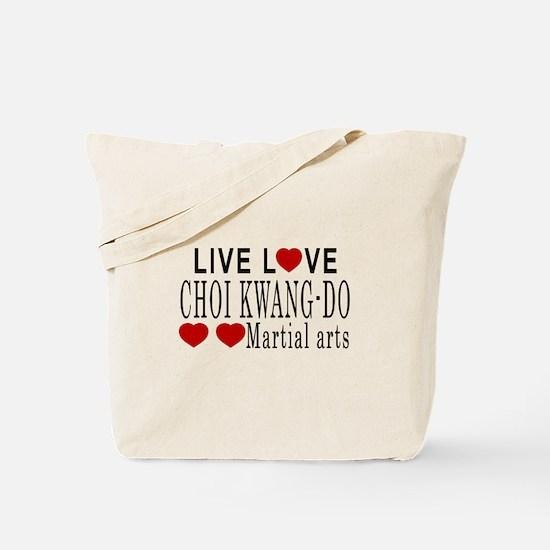 Live Love Choi Kwang-Do Martial Arts Desi Tote Bag
