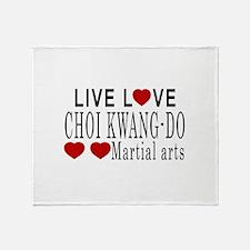Live Love Choi Kwang-Do Martial Arts Throw Blanket