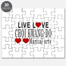 Live Love Choi Kwang-Do Martial Arts Design Puzzle