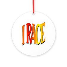 I Race Keepsake (Round)