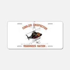 COOLER INSPECTOR Aluminum License Plate