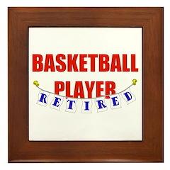 Retired Basketball Player Framed Tile