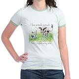 Vegetarian Jr. Ringer T-Shirt