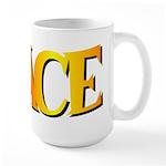 I Race Large Mug