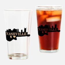 Nashville Guitar Skyline Drinking Glass