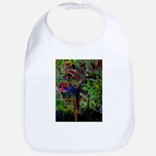 Macaws In Tropical Paradise At Night Baby Bib