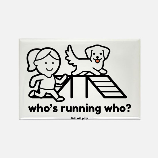 Funny Canine sport Rectangle Magnet