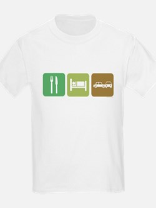 eatsleepcrashcars-dark.psd T-Shirt