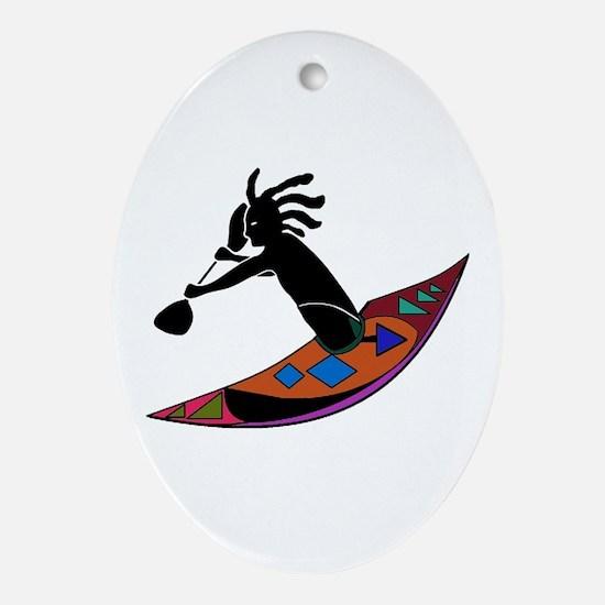 KAYAKER Oval Ornament