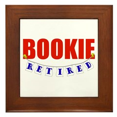 Retired Bookie Framed Tile