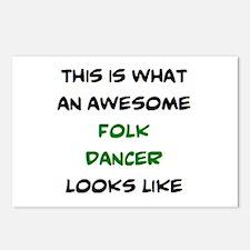 awesome folk dancer Postcards (Package of 8)