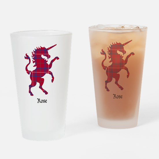 Unicorn - Rose Drinking Glass