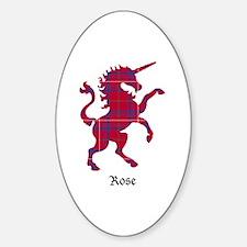 Unicorn - Rose Sticker (Oval)