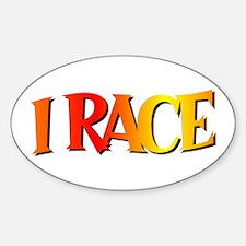 I Race Oval Decal